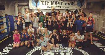 Barn & Junior gruppen på TiP Muay Thai