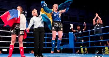 Anna Strandberg World Champion in IFMA Muaythai Championship photo: Emil Svensson
